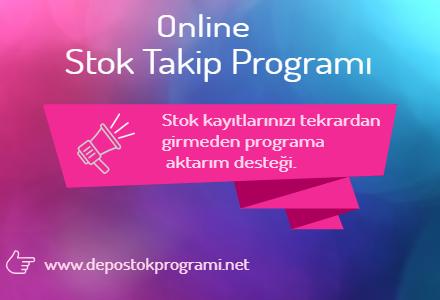 online stok takip programında excelden veri aktarımı yapilir.
